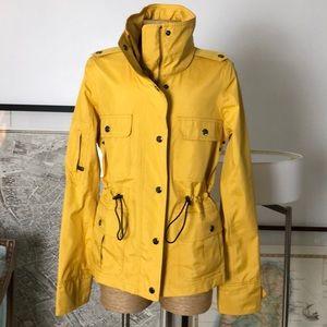 New Burberry yellow raincoat jacket size XS